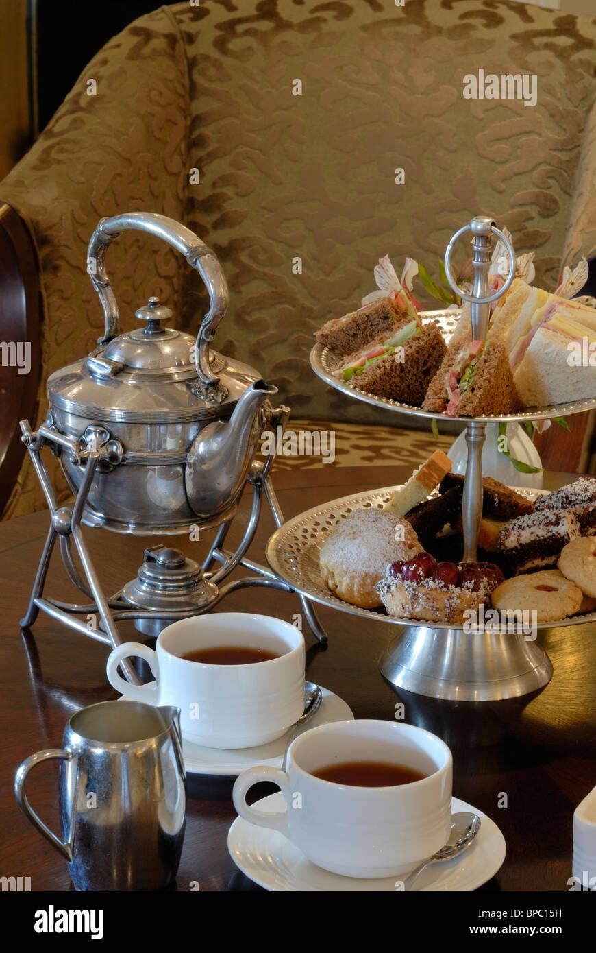 Afternoon tea Nairobi Kenya, Fairmont Norfolk Hotel, Tea Room - Stock Image