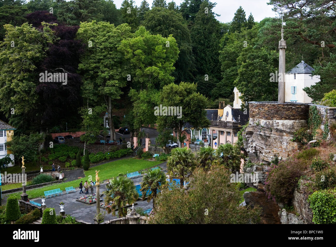 Portmeirion Italianate Village Gwynedd Wales UK Stock Photo