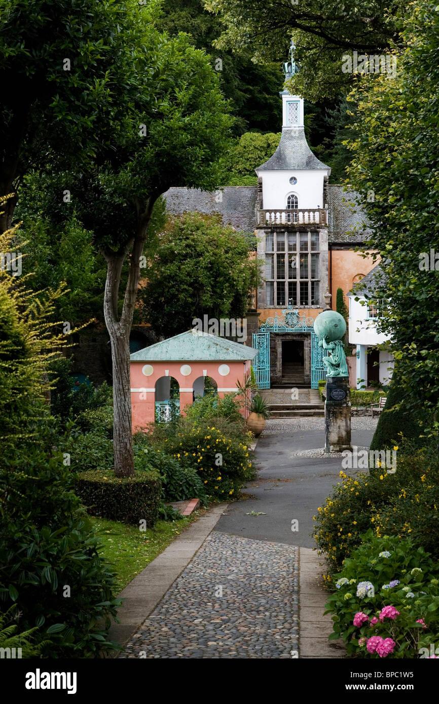 Portmeirion Italianate Village Gwynedd Wales UK Stock Photo
