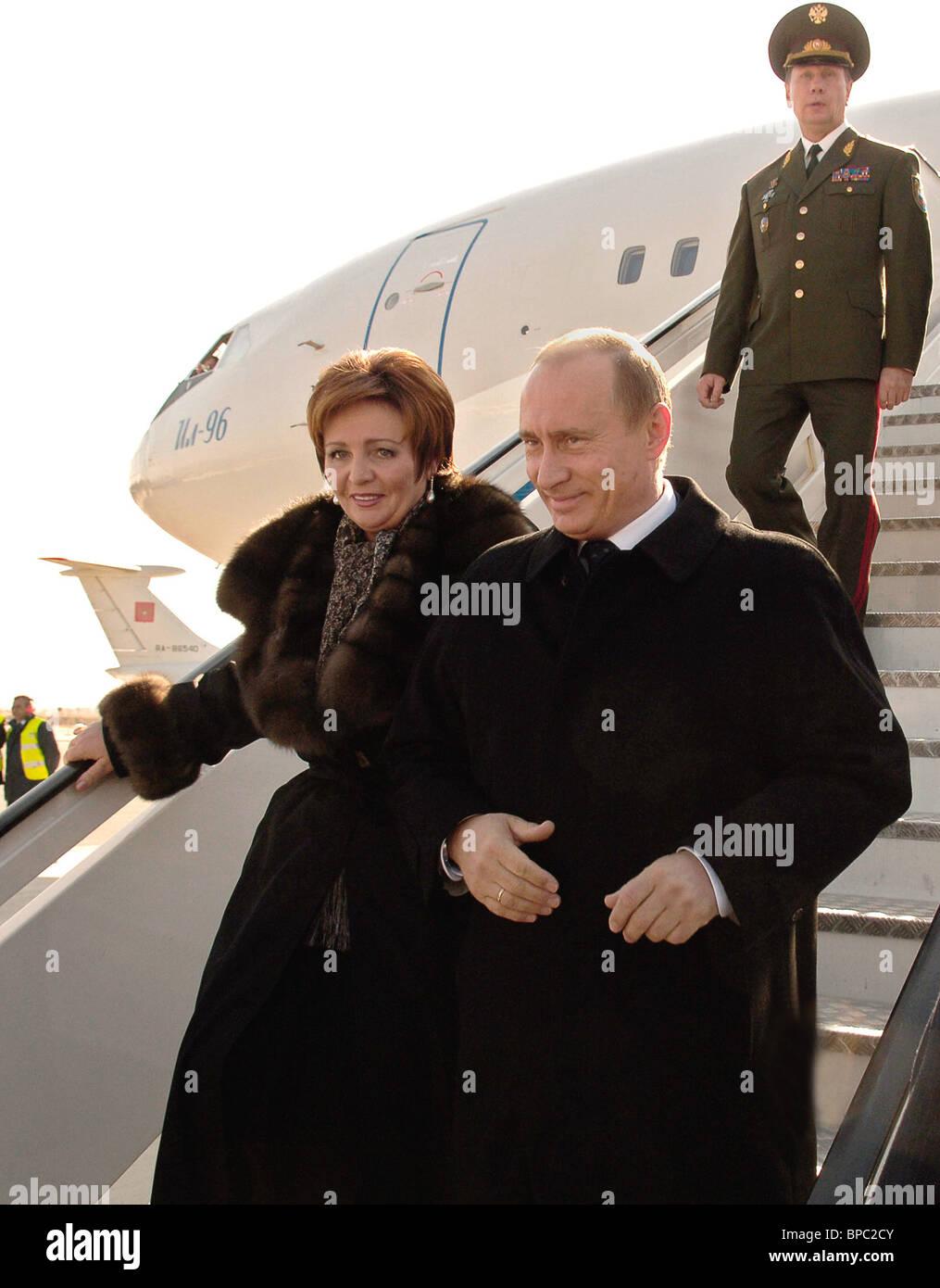 Russian President Vladimir Putin visits Spain Stock Photo
