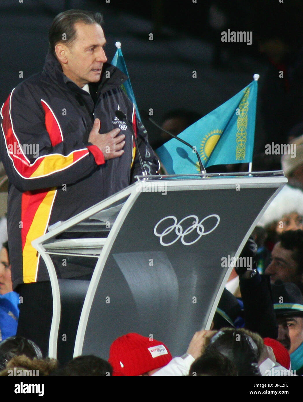 Opening ceremony of XX Winter Olympic games held in Turin - Stock Image