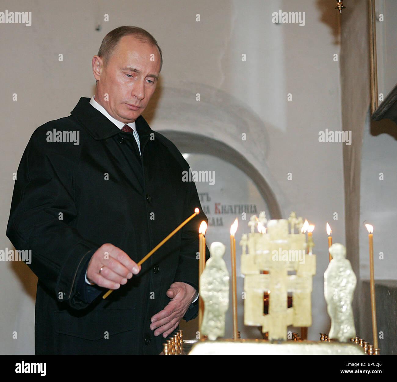 Russian President Vladimir Putin visits Nizhni Novgorod - Stock Image