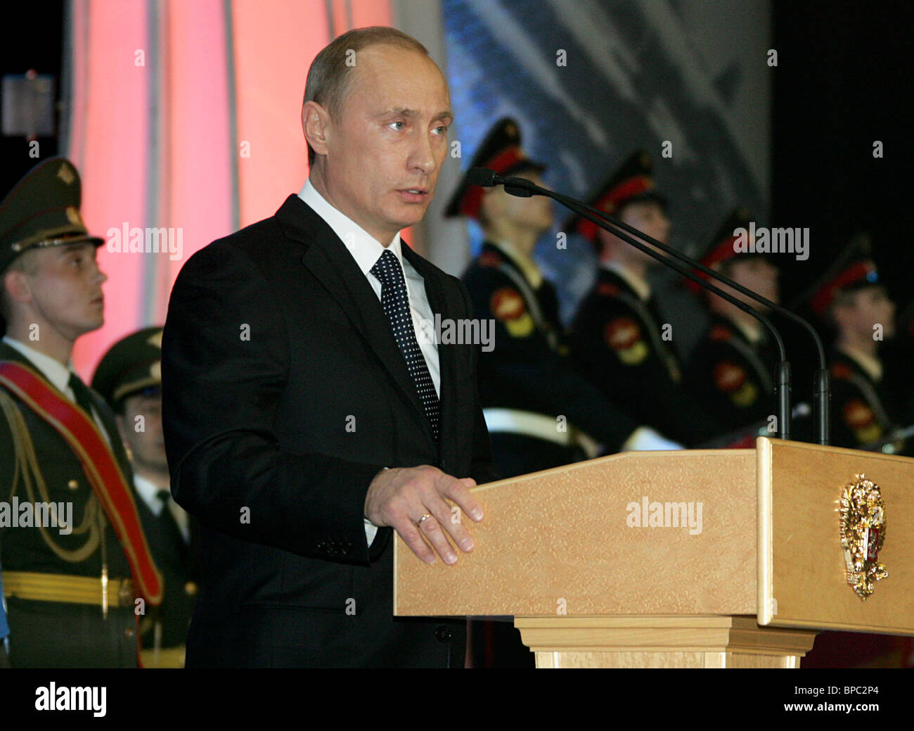 Russian President Vladimir Putin attends gala marking Russia's Army Day - Stock Image
