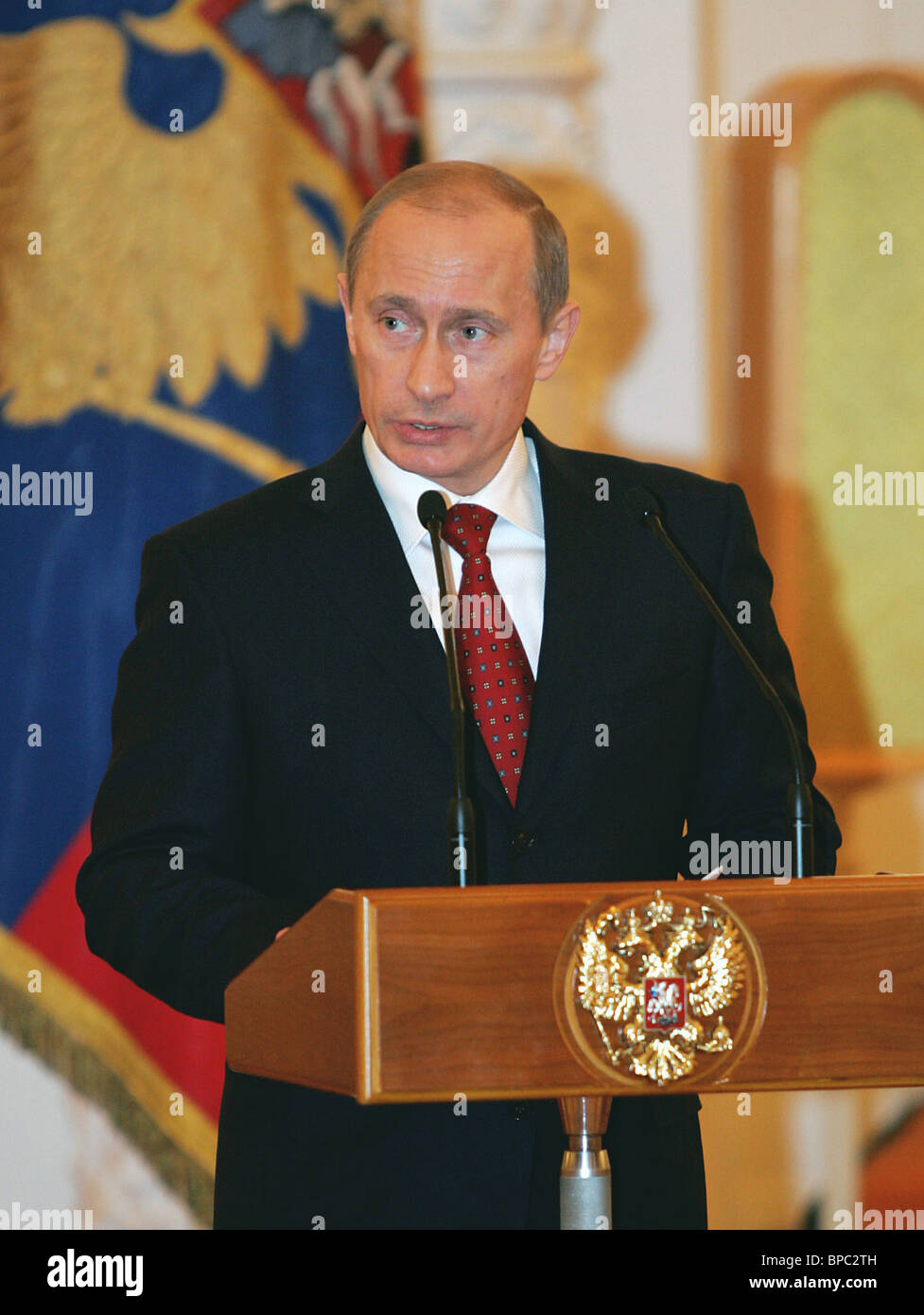 Russian President Vladimir Putin holds a number of meetings February 27, 2006 - Stock Image