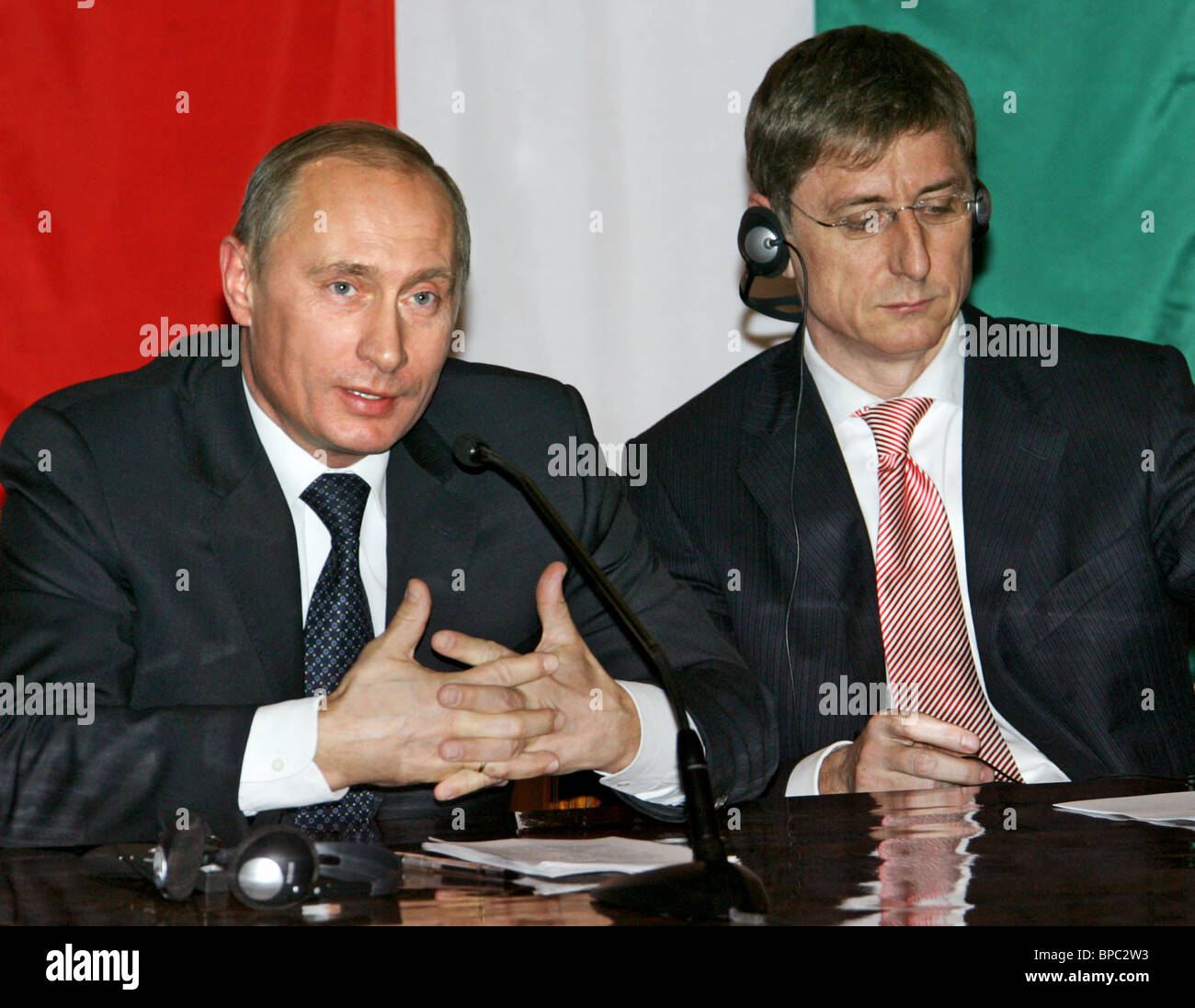 Russian President Vladimir Putin on official visit to Hungary - Stock Image