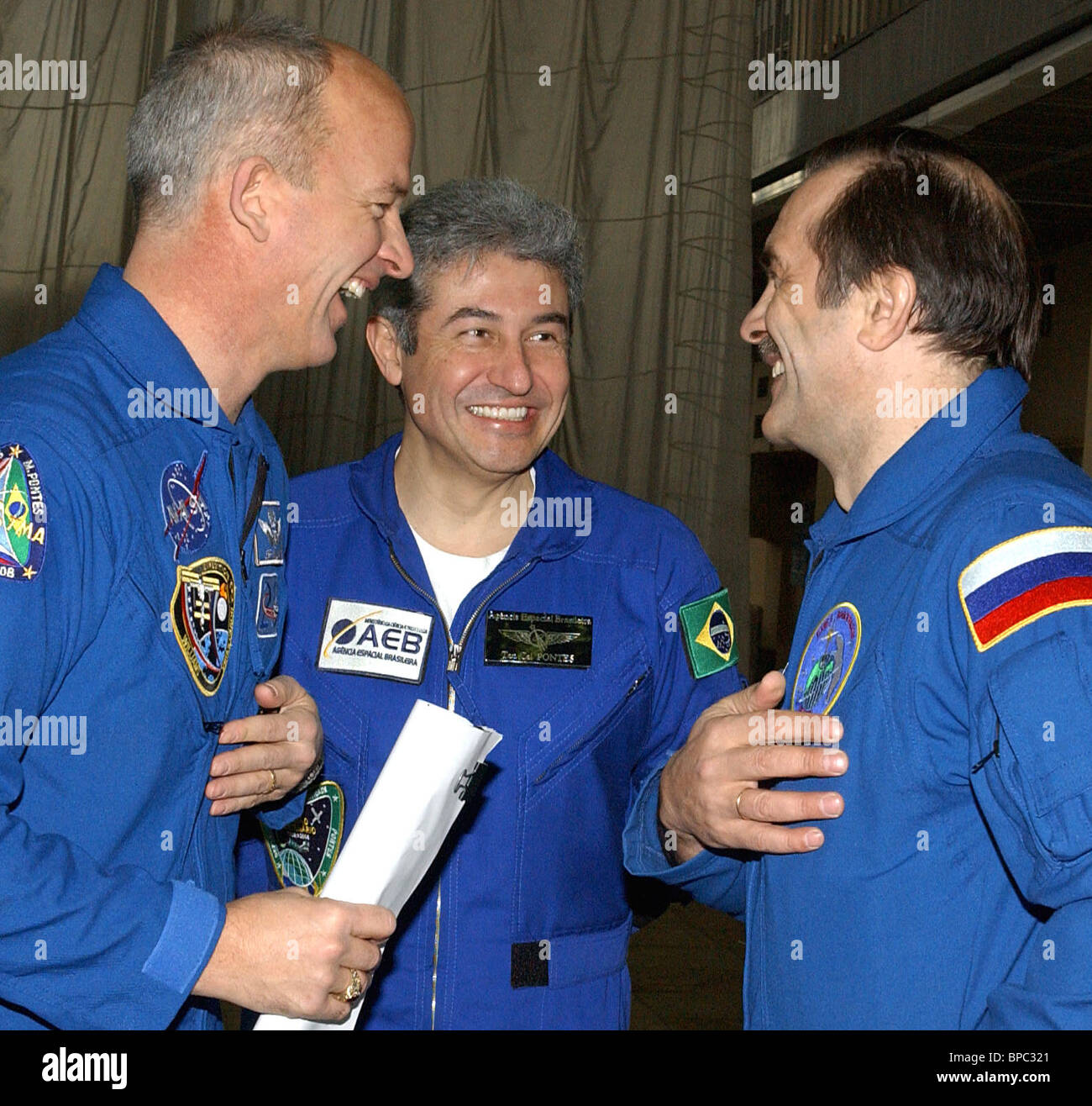 Crew of 13th shuttle mission to ISS to take preflight exams in Star City - Stock Image