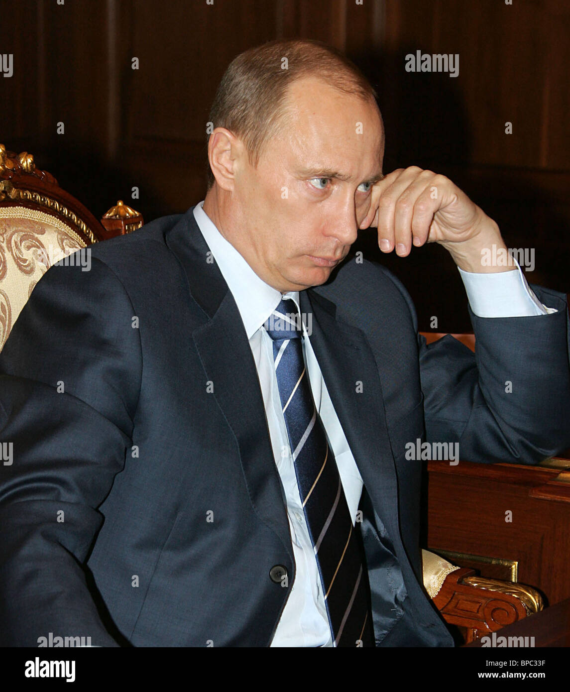 Russian President Vladimir Putin holds a number of meetings March 13, 2006 - Stock Image