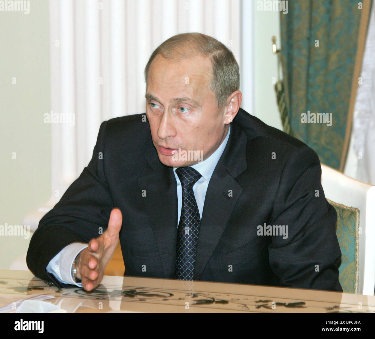 Russian President Vladimir Putin holds a number of meetings April 11, 2006 - Stock Image