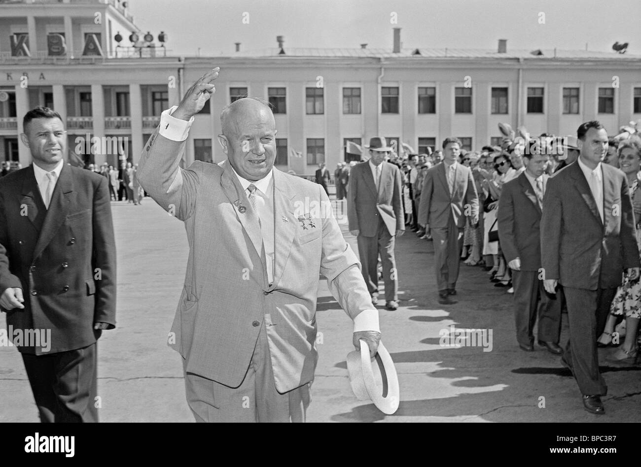 First Secretary of Central Committee of CPSU Nikita Khrushchev, 1959 Stock Photo