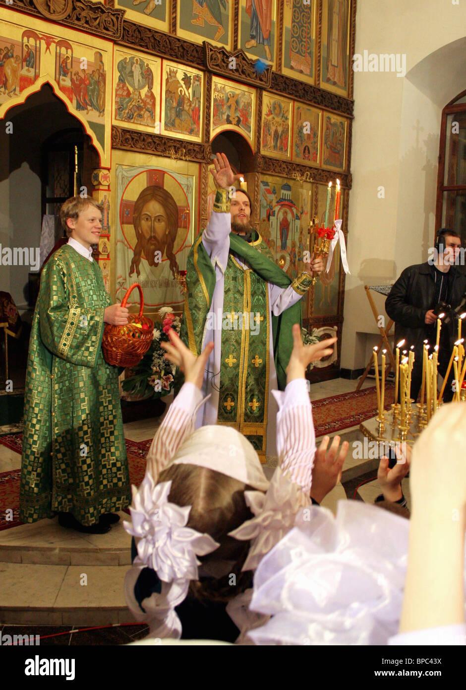 Orthodox Christians celebrate Easter on Sunday, April 23 - Stock Image