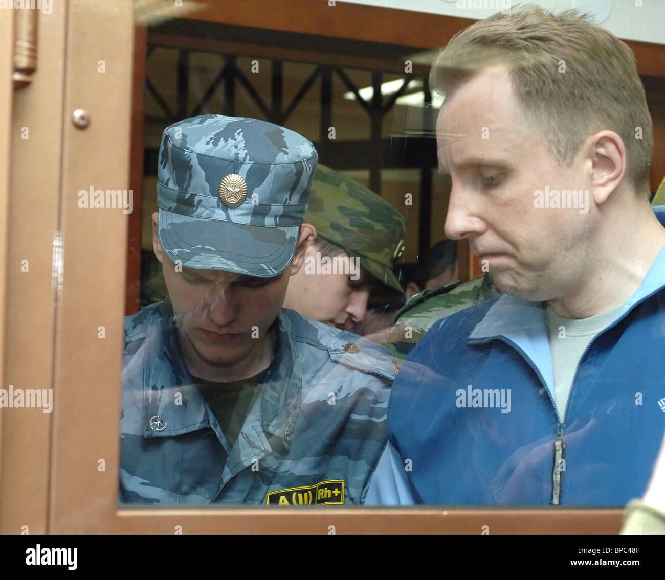 Former YUKOS security officer charged with two murders and two murder attempts - Stock Image