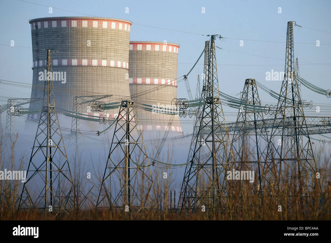 Kalinin Nuclear Power Plant in operation - Stock Image