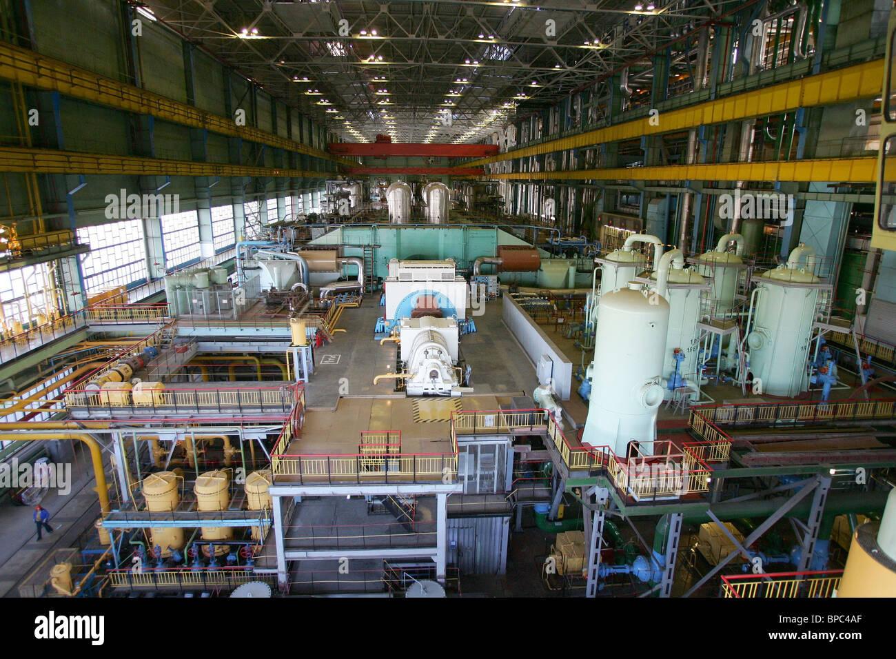 ITAR-TASS 100: TVER REGION, RUSSIA. APRIL 27. At the Kalinin Nuclear Power Plant. (Photo ITAR-TASS / Vladimir Smirnov) - Stock Image