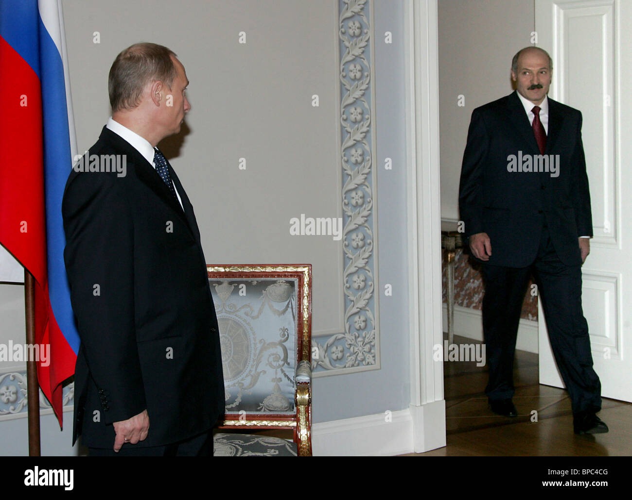 Russian President Vladimir Putin visits St. Petersburg - Stock Image