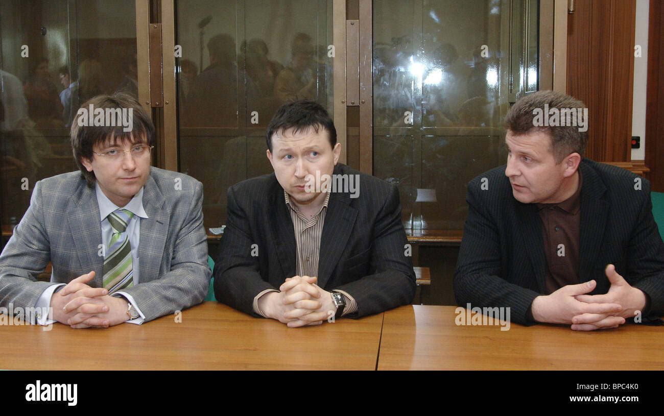 Defendants acquitted on charges of Paul Khlebnikov's murder - Stock Image
