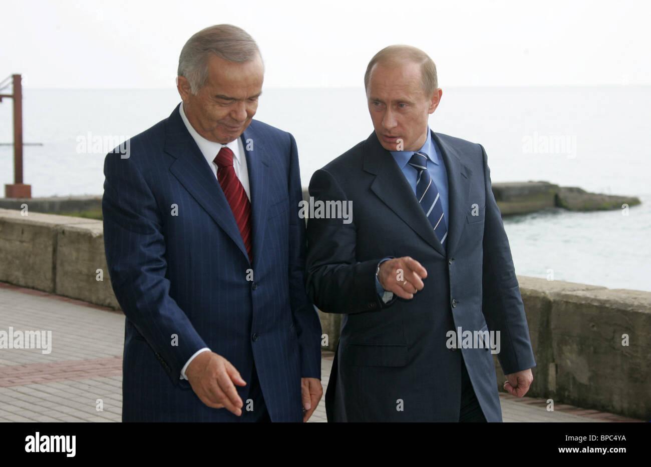 President Putin on working visit to Sochi - Stock Image
