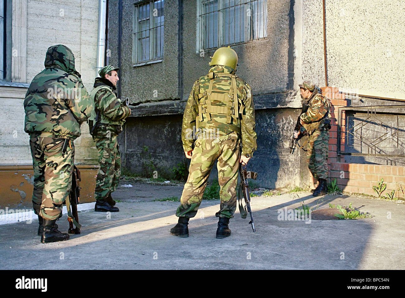 Militants killed in apartment block during raid in Kizilyurt, Dagestan - Stock Image