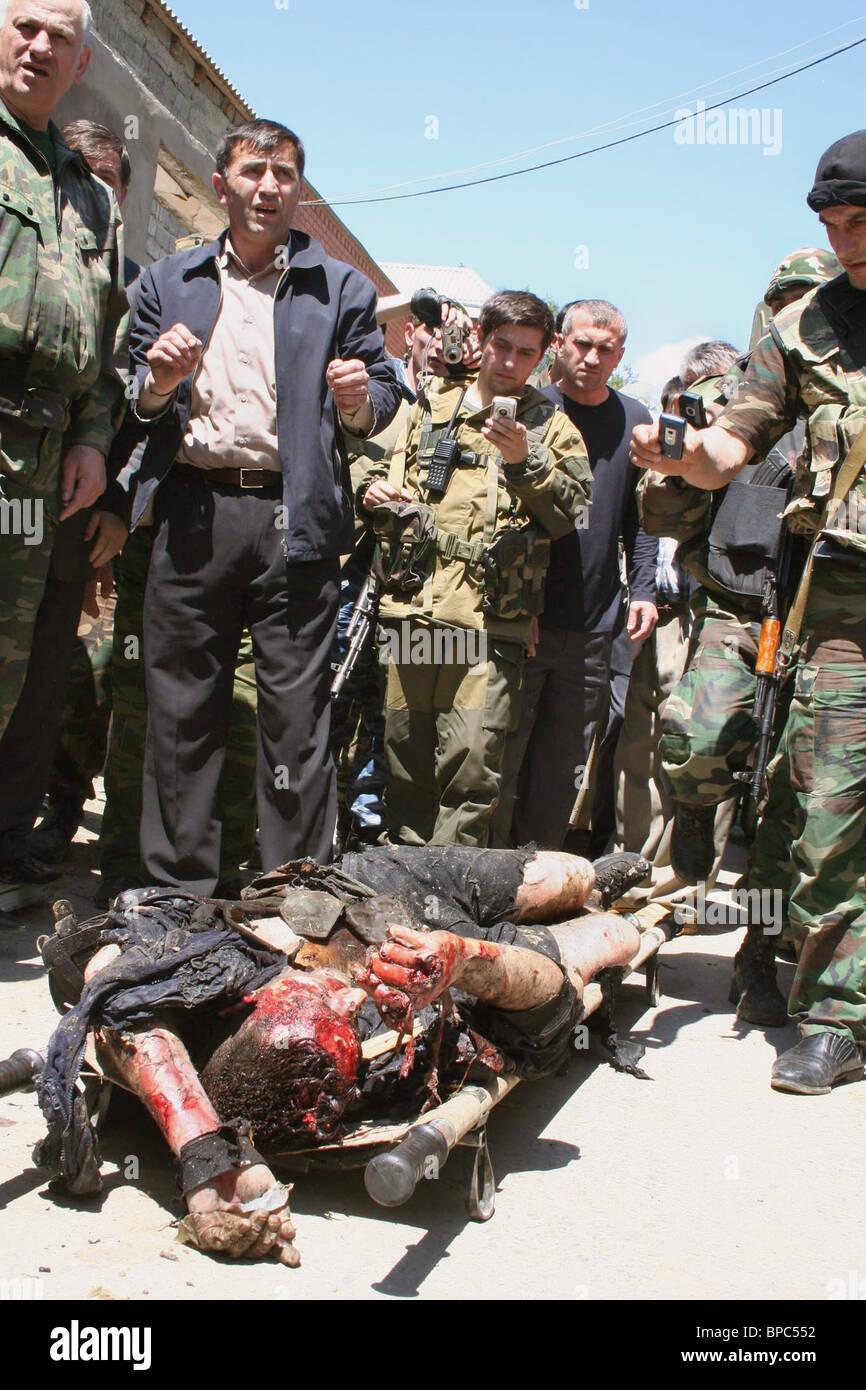Militants killed in apartment block during raid in Kizilyurt, Dagestan - Stock Image