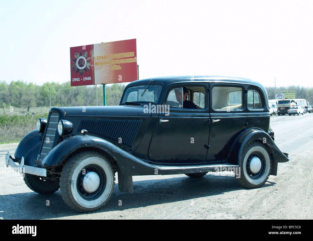 Vintage Automobiles Parade in Saratov Stock Photo: 31000486 - Alamy