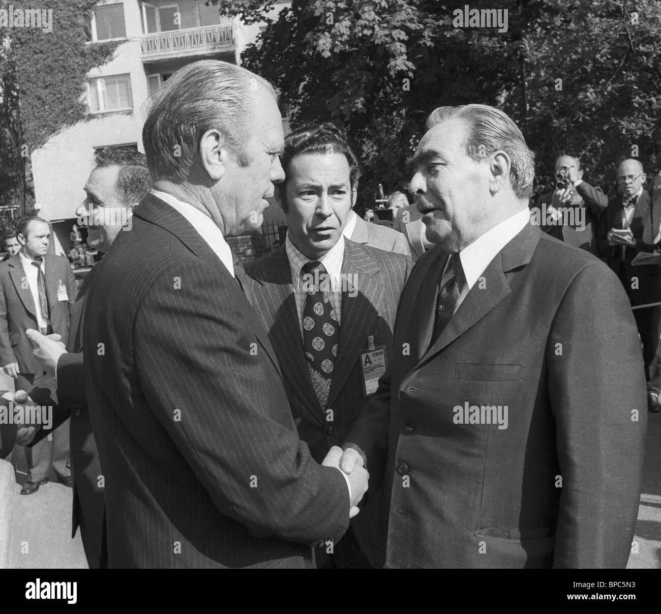 Leonid Brezhnev And Gerald Ford Stock Photos Amp Leonid