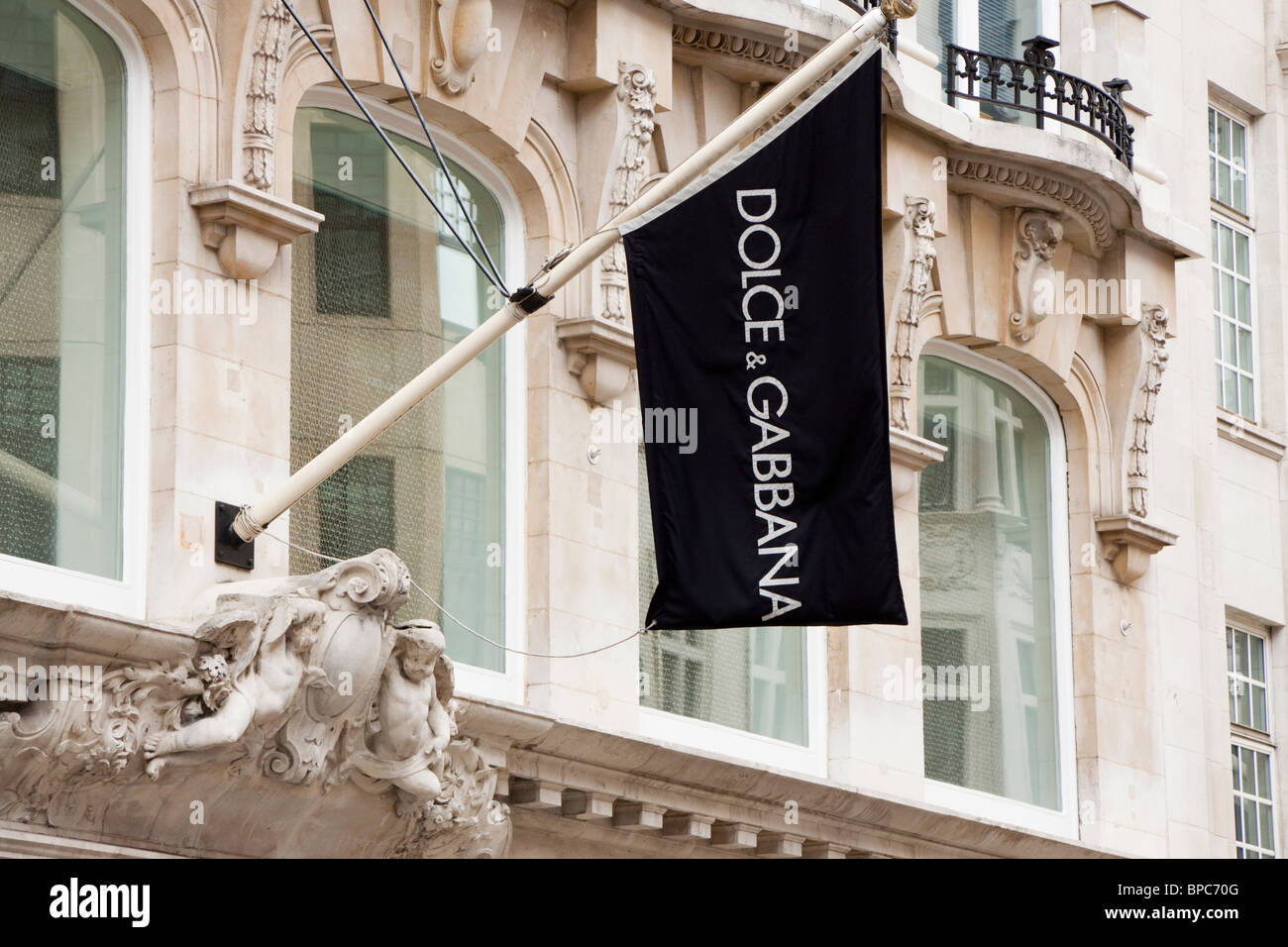 Dolce & Gabbana store, 24 Old Bond Street, London, England - Stock Image