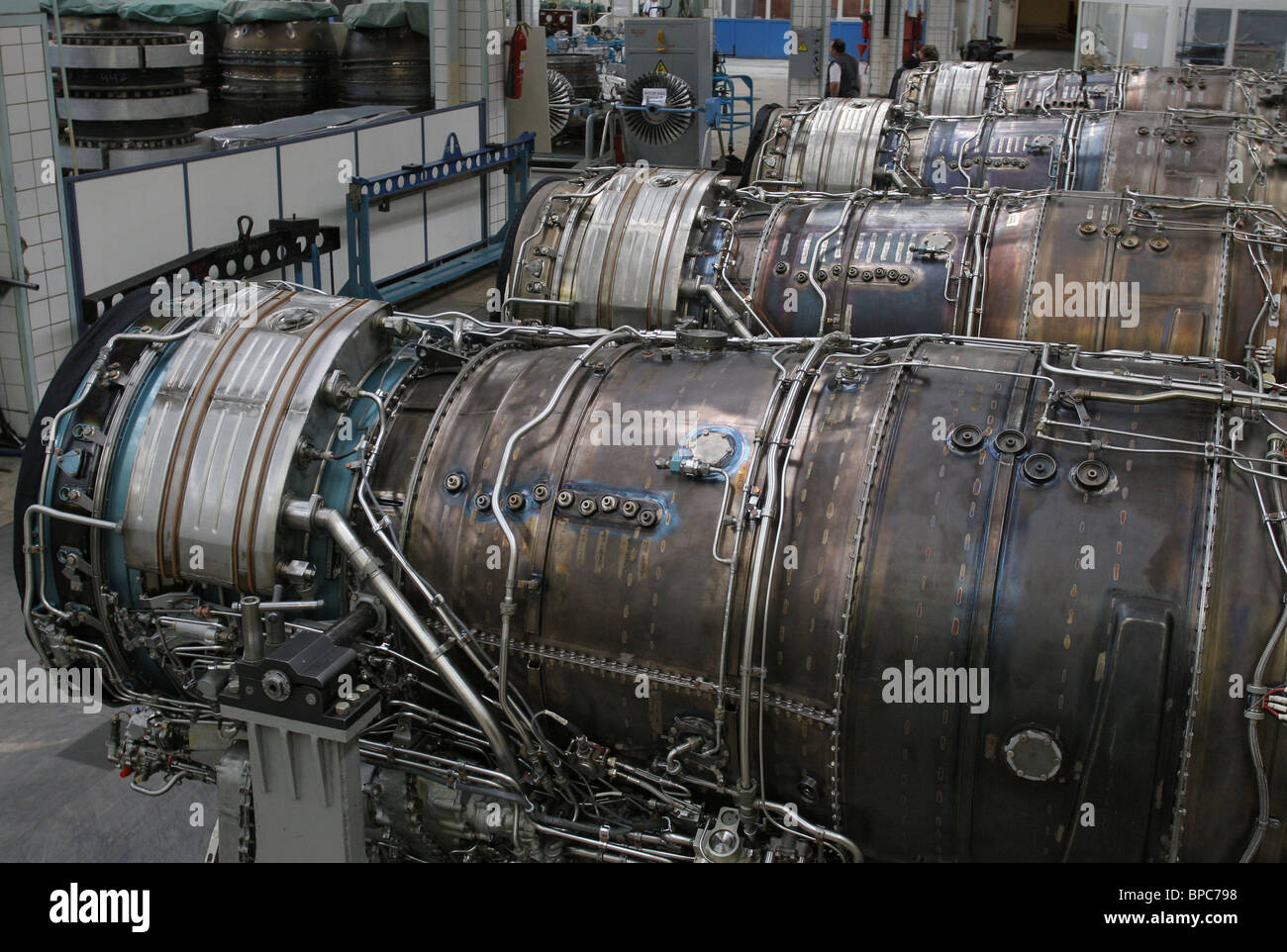 Salyut Plant, manufacturer of engines for Sukhoi and MiG aircraft - Stock Image