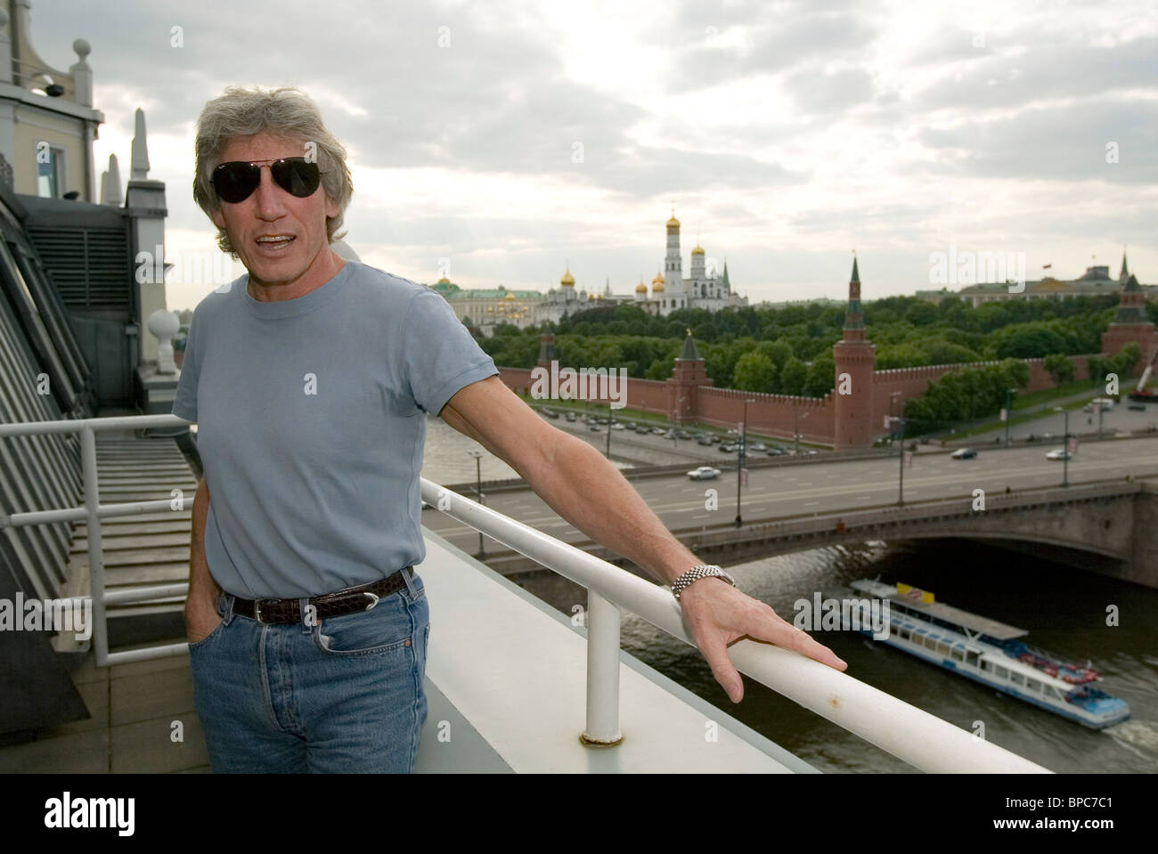Bass guitarist of Pink Floyd Roger Waters - Stock Image