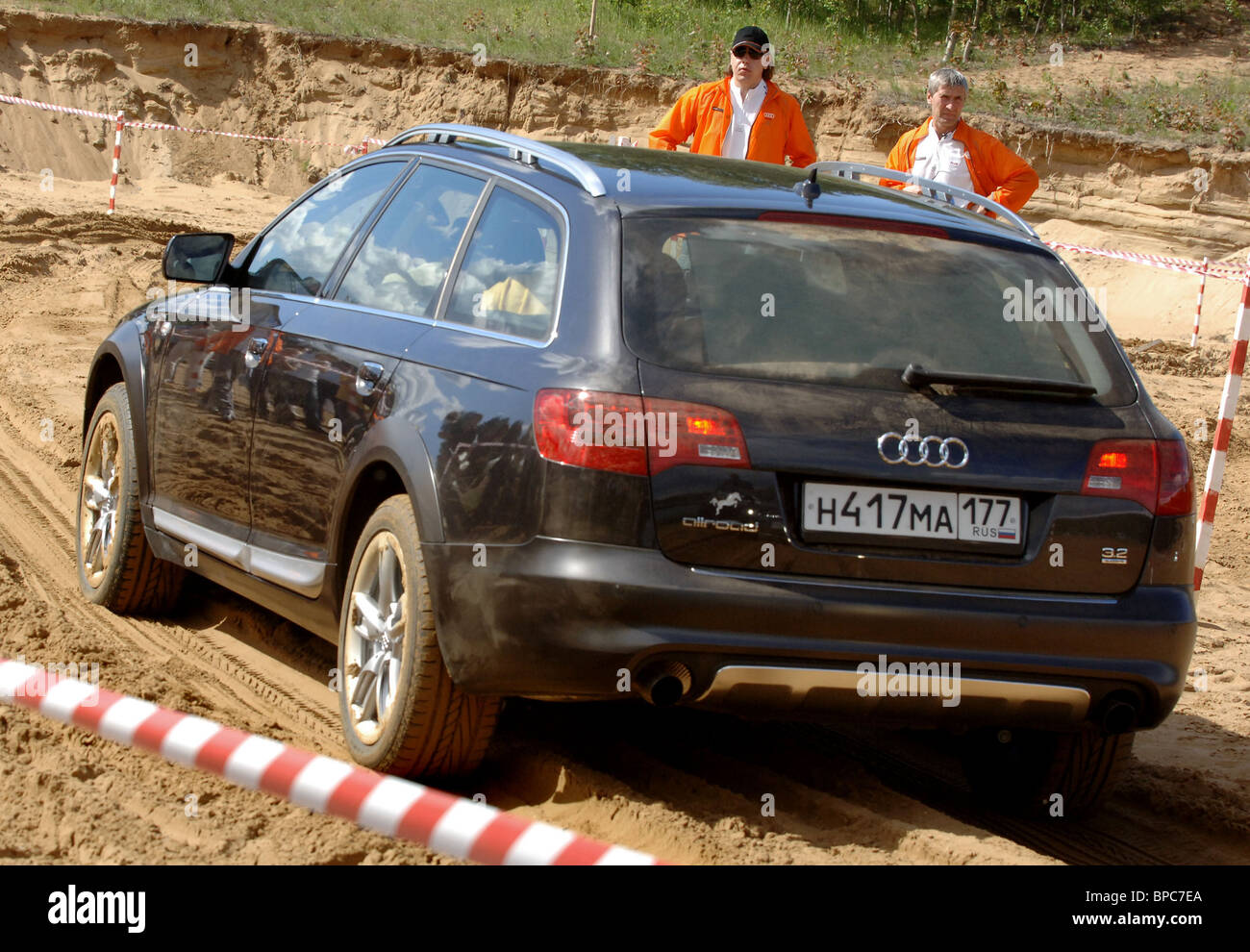Presentation of Audi A6 allroad quattro automobile at Code d'Azur country club near Moscow - Stock Image