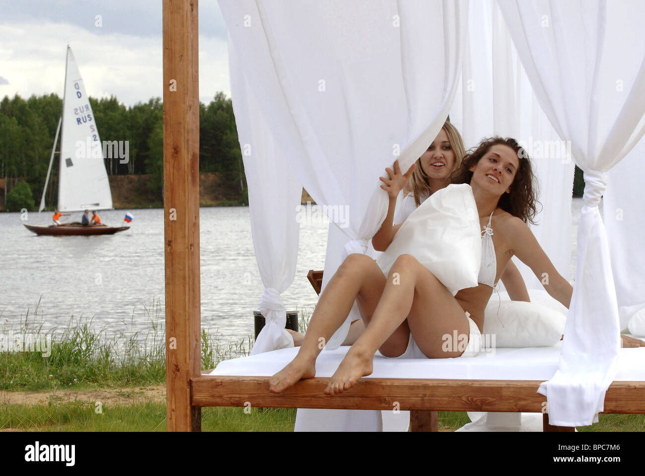 Holiday makers in Moscow Region during summer vacation season - Stock Image