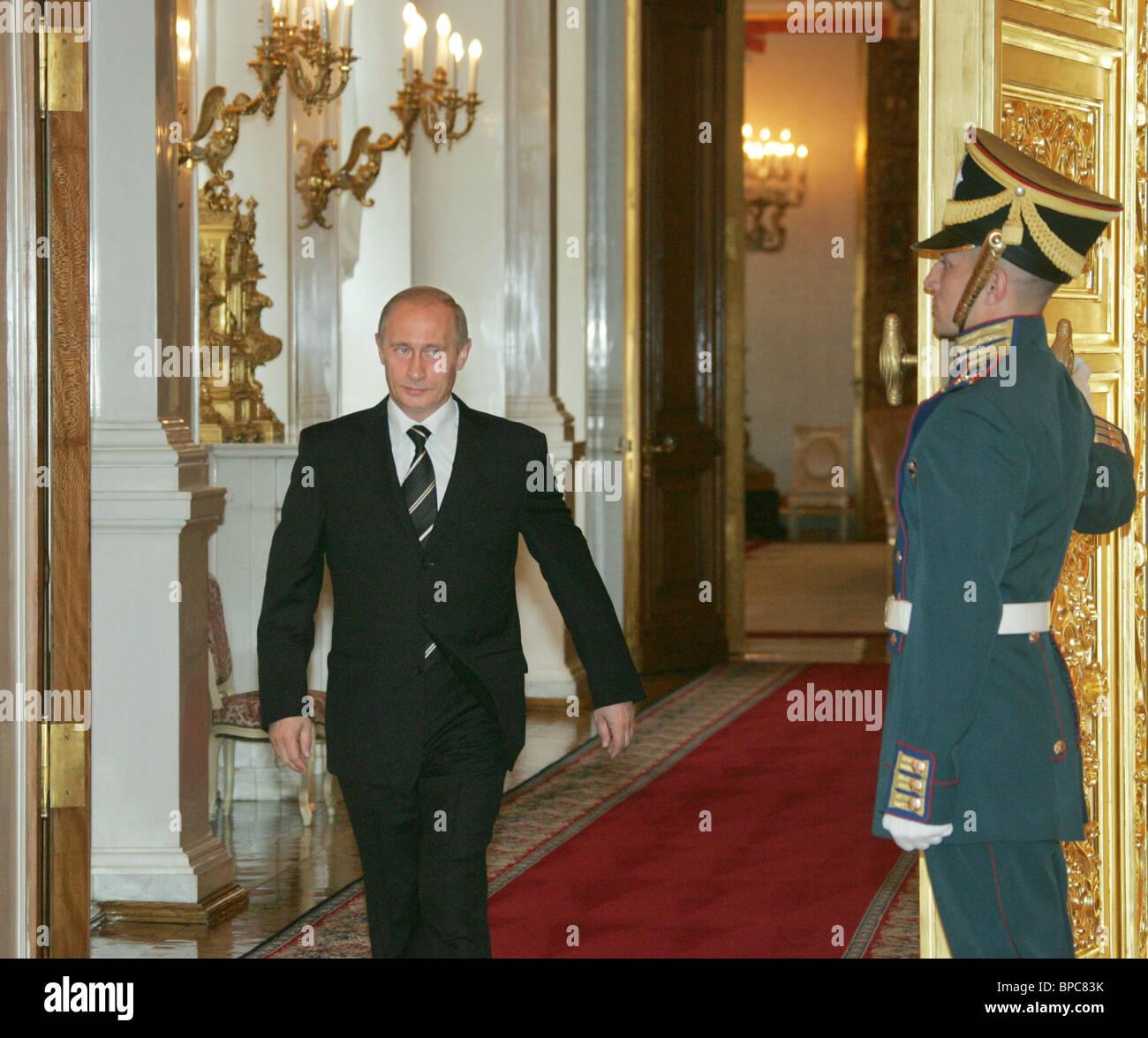 Russian President Vladimir Putin holds number of meetings on June 28, 2006 - Stock Image