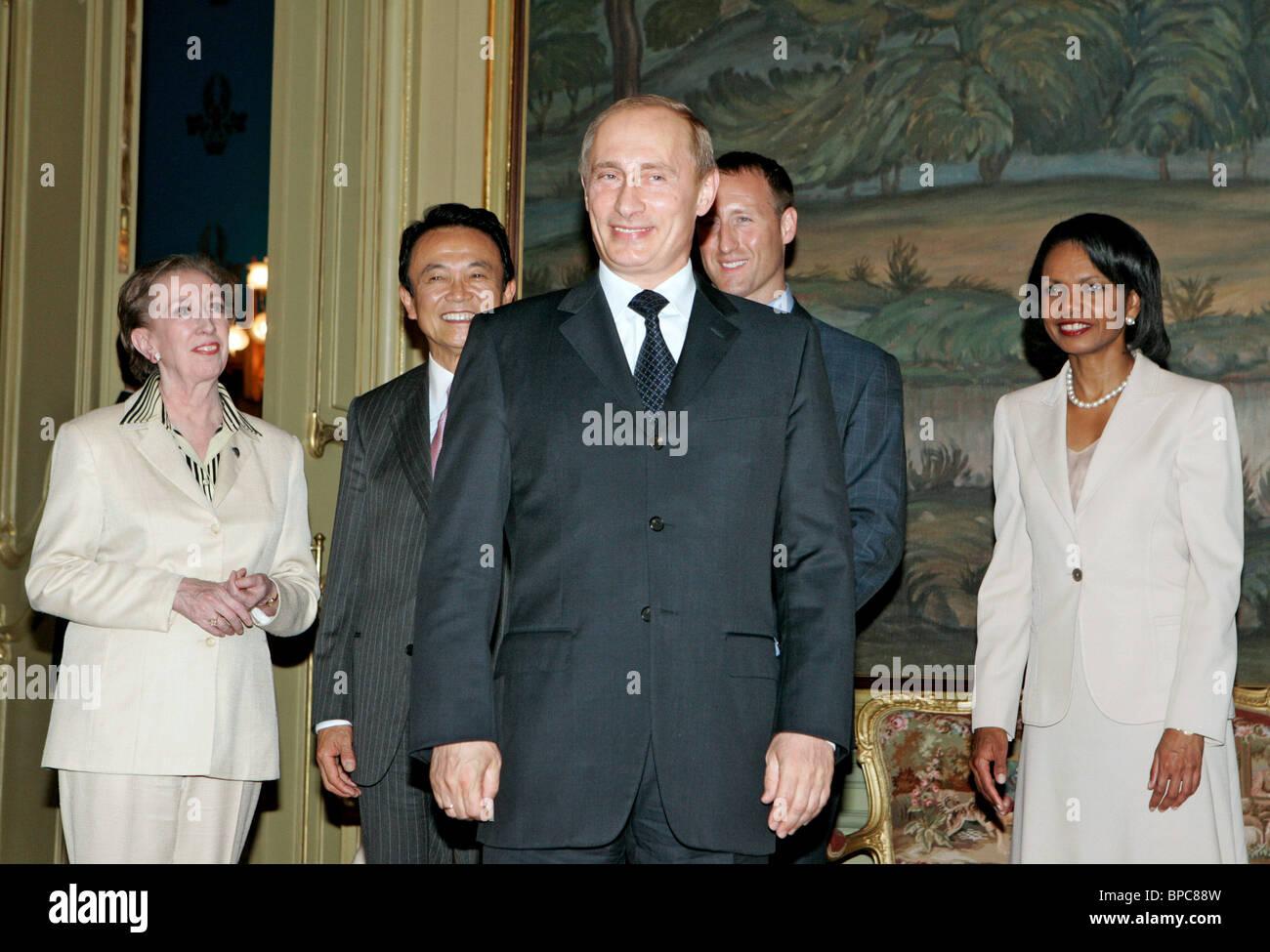 Russian President Vladimir Putin holds number of meetings on June 29, 2006 Stock Photo