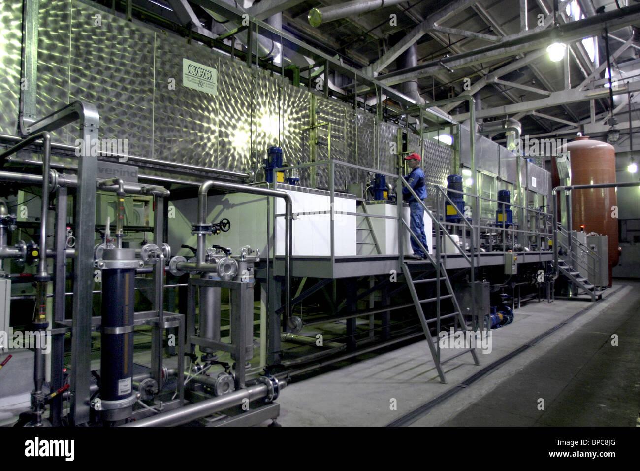 Candy washing machines manufactured in Kirov - Stock Image