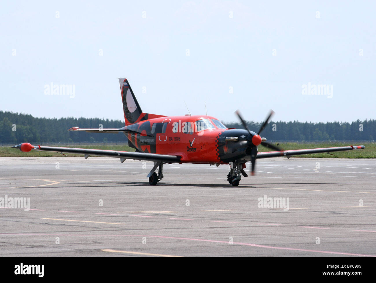 Air taxi startup company Dexter launches regular flights across Russia - Stock Image