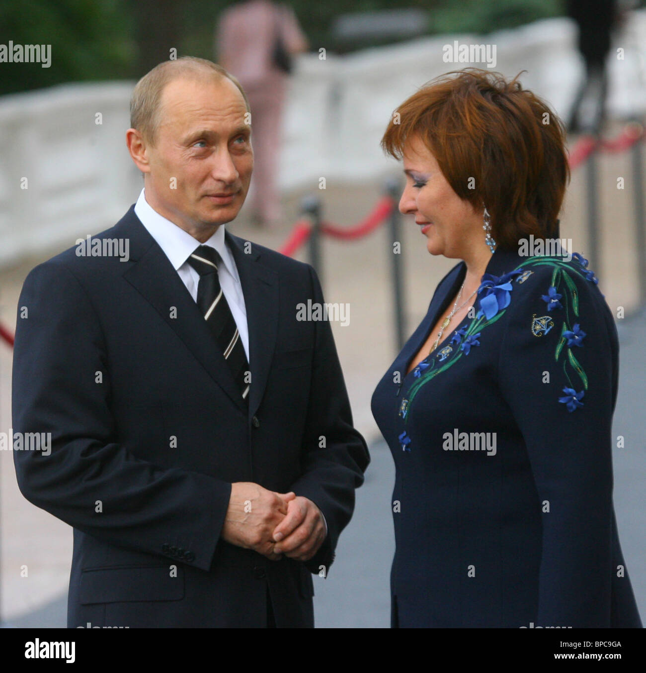 Informal dinner for G8 leaders and their spouses held at Peterhof Palace - Stock Image