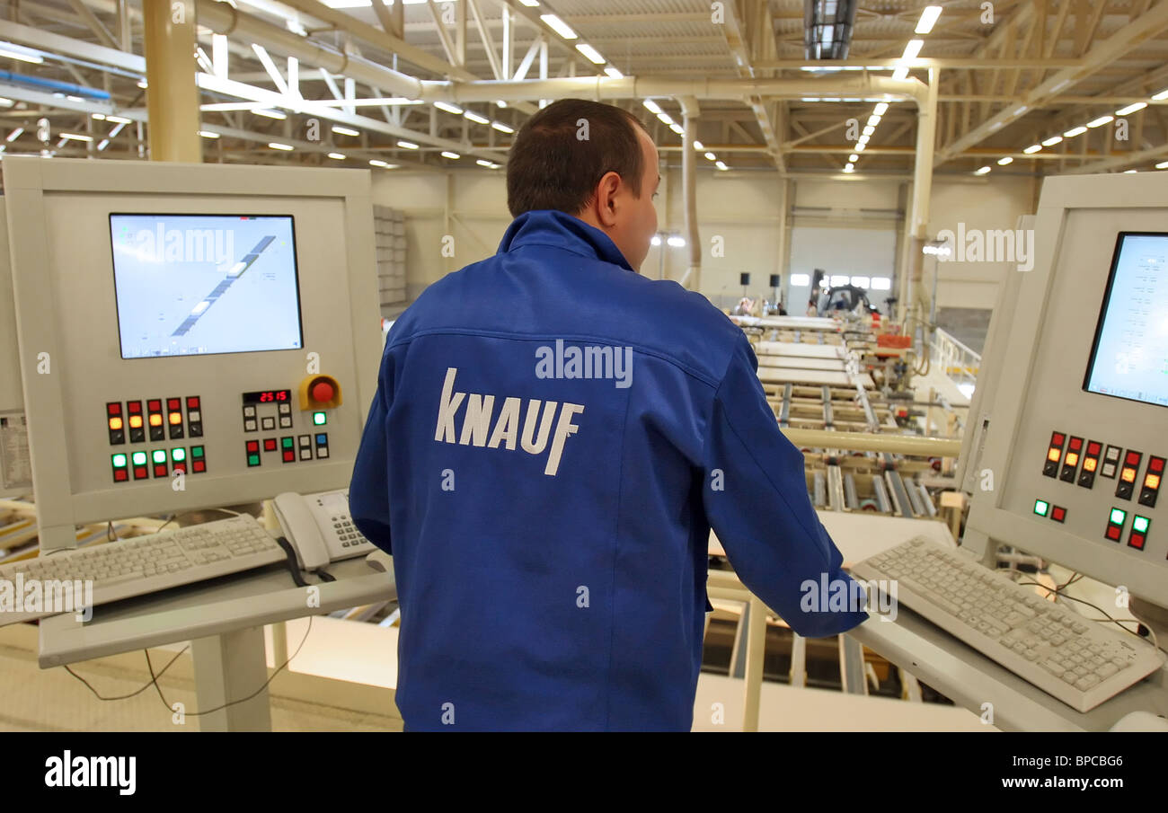 St. Petersburg-based KNAUF plant in operation - Stock Image