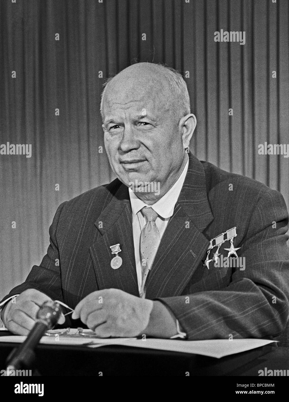First Secretary of Central Committee of CPSU Nikita Khrushchev, 1962 Stock Photo