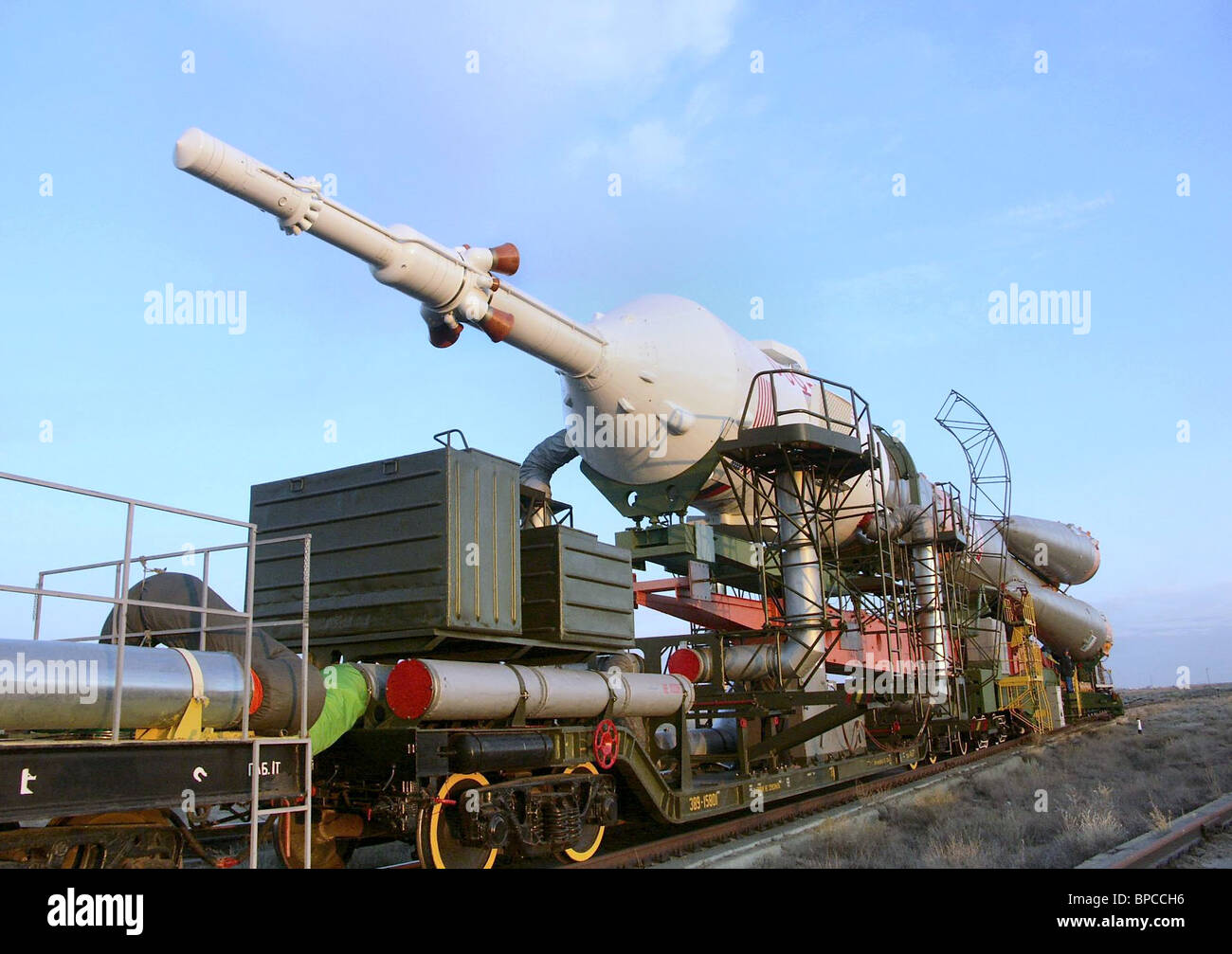 14th ISS crew to launch from Baikonur Cosmodrome - Stock Image