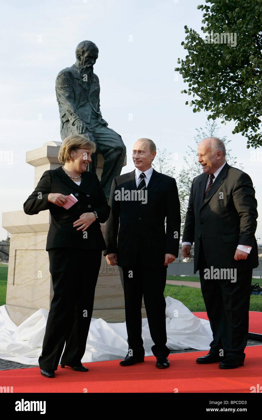 President Putin starts two-day visit to Germany - Stock Image