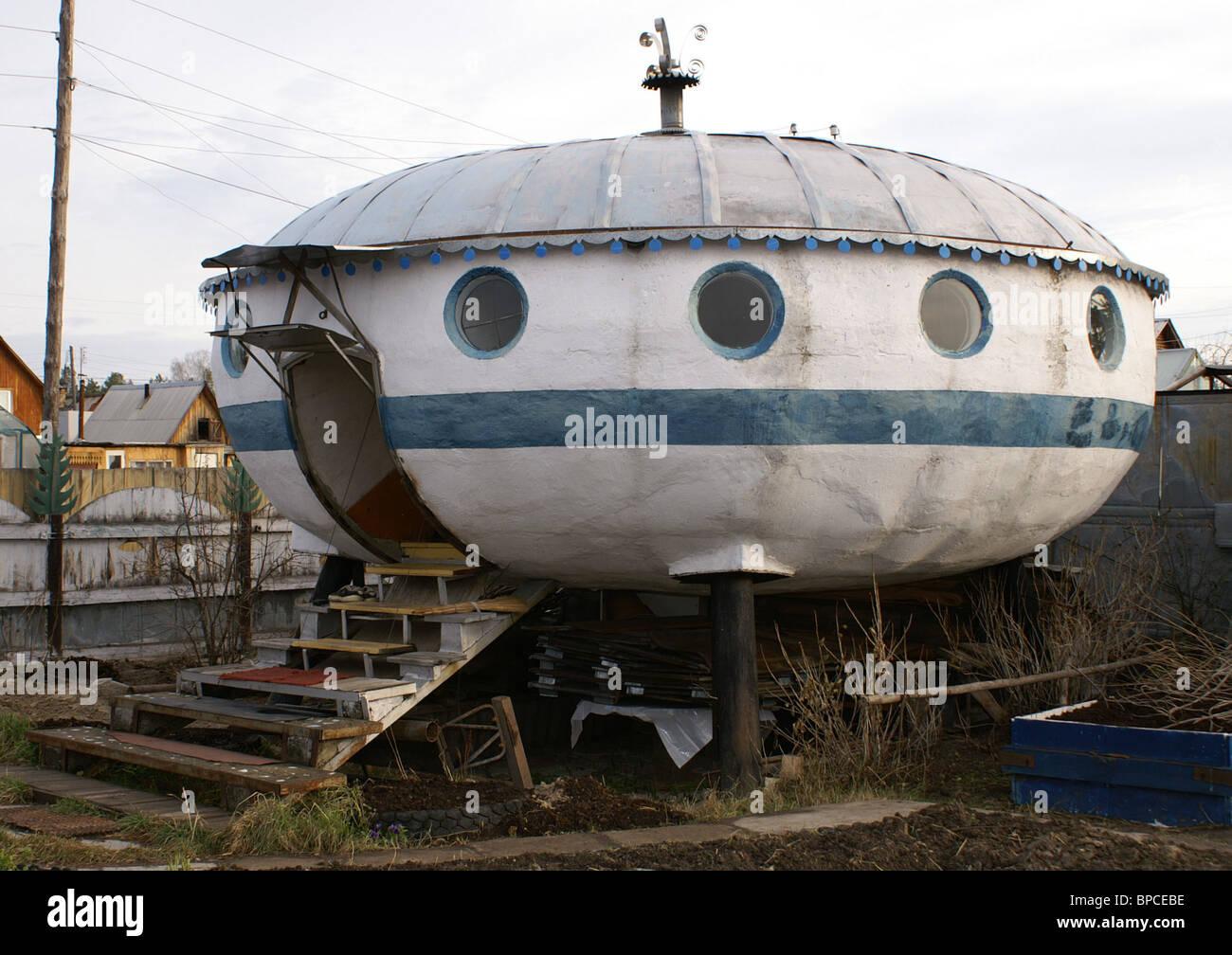 Superb Flying Saucer Shaped House Built In Tyumen Region Stock Download Free Architecture Designs Xerocsunscenecom
