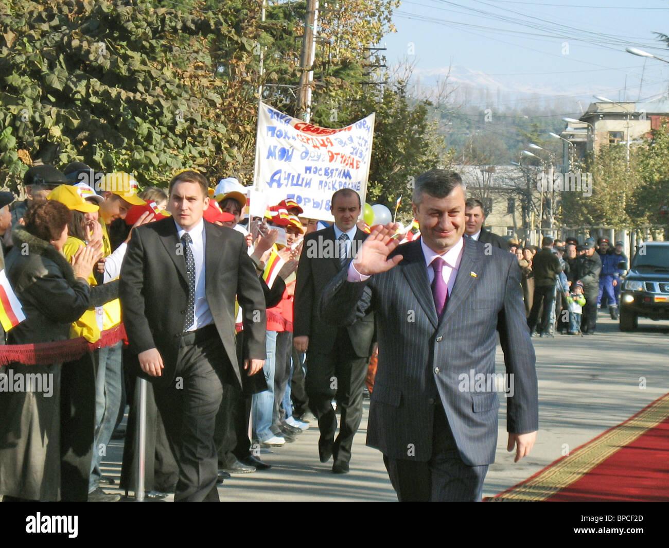 Eduard Kokoity inaugurated as President of breakaway South Ossetia Stock Photo