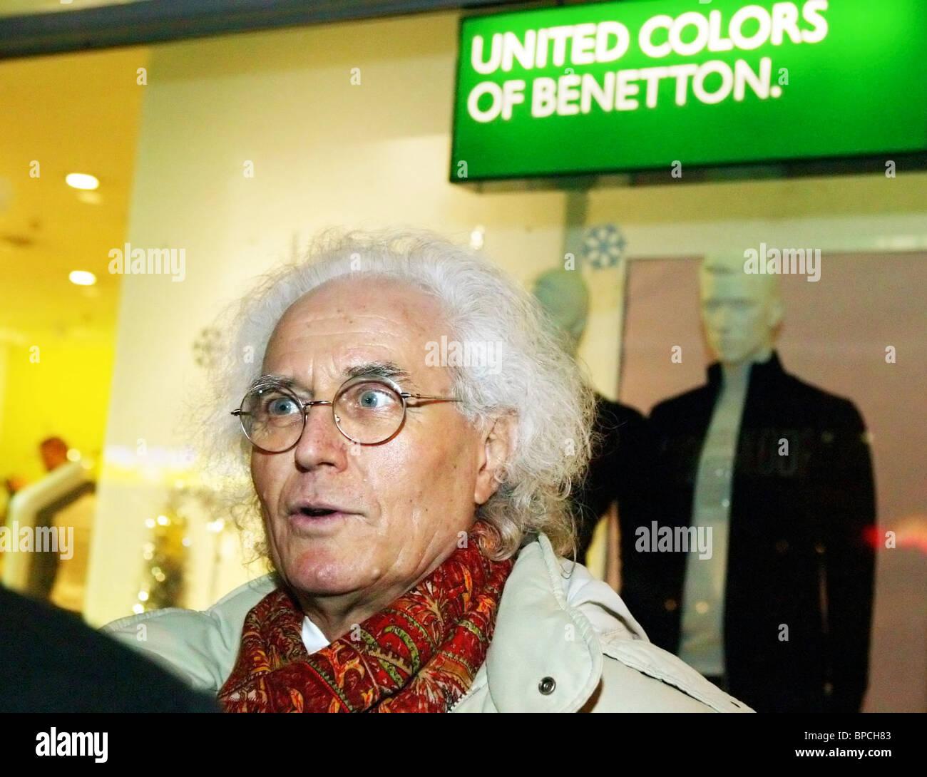 Benetton's chairman Luciano Benetton arrives in Kaliningrad - Stock Image