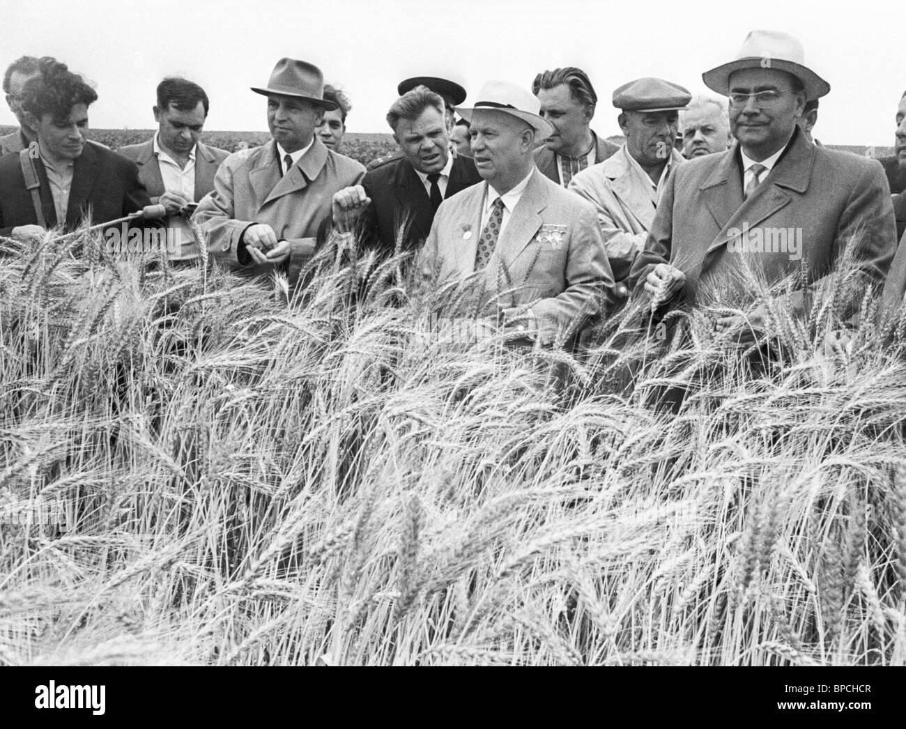 Nikita Khrushchev in Kursk region, 1962 - Stock Image