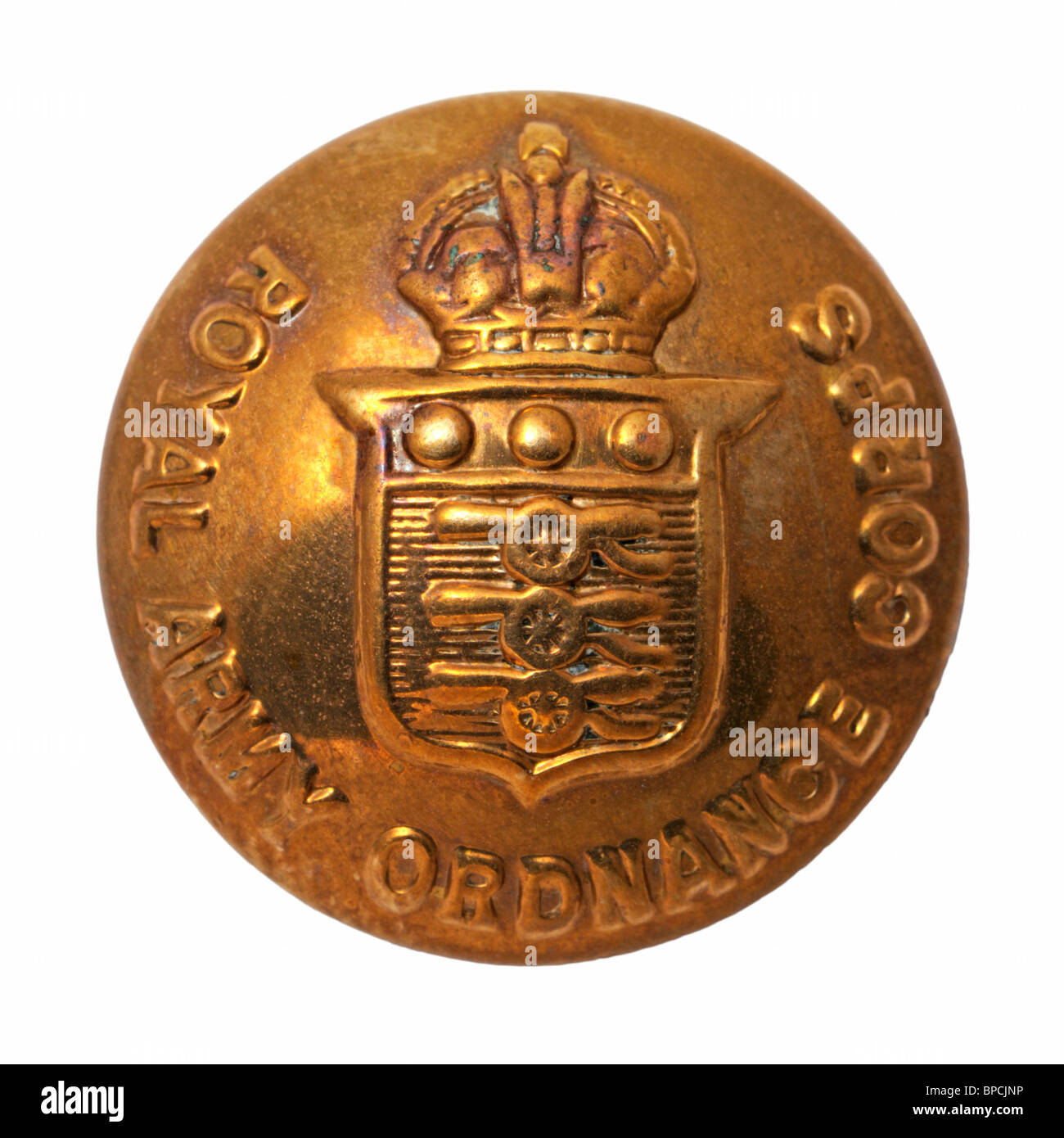 British Military Button - Royal Army Ordnance Corps - Stock Image