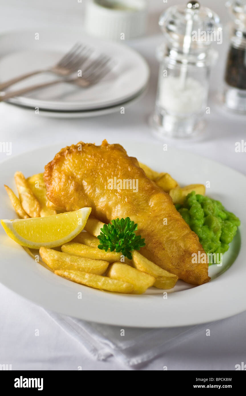 Fish and chips Traditional food UK - Stock Image