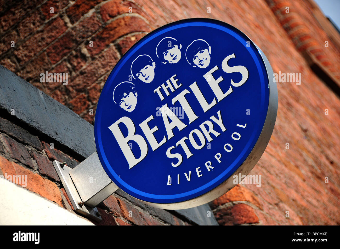 Sign at The Beatles Story, Albert Dock, Liverpool, England - Stock Image