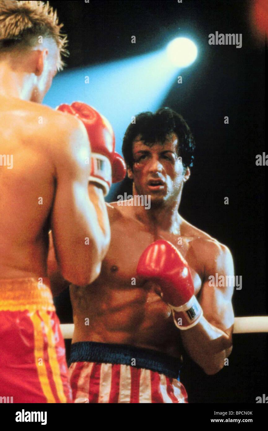 DOLPH LUNDGREN SYLVESTER STALLONE ROCKY IV (1985) - Stock Image