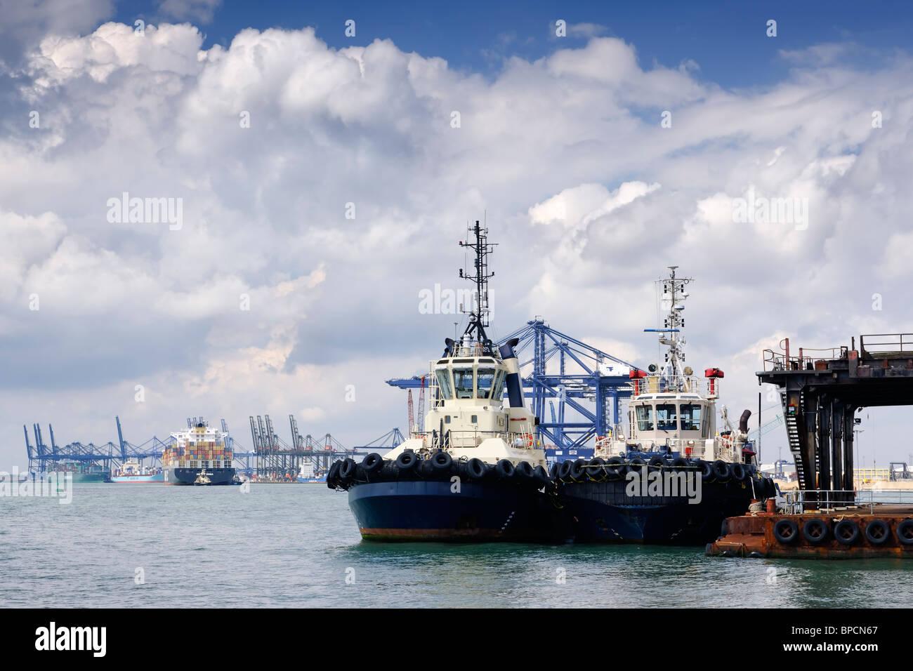 The Port of Felixstowe - Suffolk, England - Stock Image