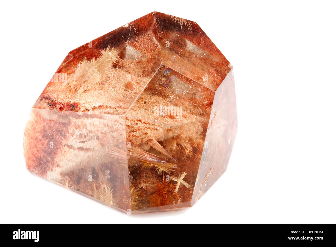 Smoke Quartz Is A Brown To Black Variety Of Quartz Caused Through The Nature Irradiation Of Aluminum Containing - Stock Image