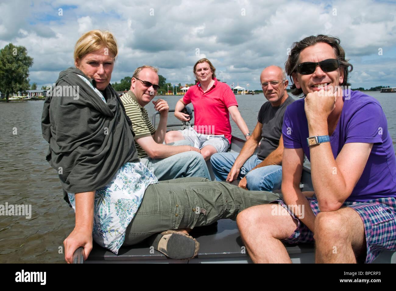 Weerribben Friesland Netherlands water sport boat - Stock Image