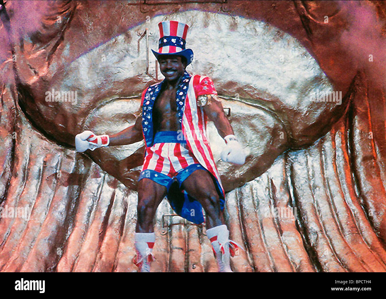 CARL WEATHERS ROCKY IV (1985) - Stock Image
